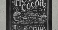 Hot Cocoa Chalkboard Art Print | Art Prints | Lily & Val | Scoutmob Shoppe | Product Detail