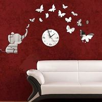 Wall Sticker Home Decoration 2015 DIY Mirror Petals Clock Wall Stickers Home Decoration Removable Vinyl Wall stickers Art Decals $7.54