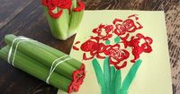 celery stamping for Mother's Day cards