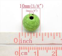 Pack of 100 Round Light Green Beads. 10mm Grey Pattern Spacers for Jewellery Making £8.19
