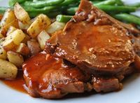 "Slow Cooker BBQ Pork Chops ~~~ Do you have a ""go to"" Pork Chop recipe? This one is mine. I love making pork in the slow cooker because it gets fall-off-the-bone tender. This recipe for Slow Cooker BBQ Pork Chops is no exception! You will also enjo..."