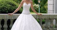 2014 New Custom Made Court Train Sweetheart Neckline Fully Lace Simply Wedding Dress Bridal Gowns Corset Back $208.00