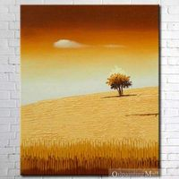 Hand Painted Oil Painting Tree On Canvas