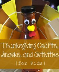 A round-up of Thanksgiving craft, snack, and activities for kids...