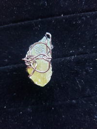 Green Calcite raw crystal pendant necklace $5.00