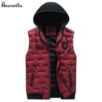 2018 Fashion New Men Winter Sleeveless Jacket And Coats Male Outwear Warm Vest Coats Cotton Waistcoat D75 $72.48
