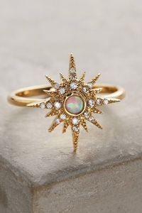 Anthropologie Opalescent Sunburst Ring http://silver-jewelry-factory.com/