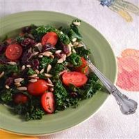 Simple Kale Salad. . . TONS of kale growing in the garden, I gotta figure out what to do with it besides juicing!