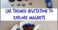 Simple science for toddlers and preschoolers. Explore magnets with this fun car themed tray.