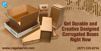 In these days everything is packed in boxes. So what sort #boxes should you have for packaging. #Corrugatedboxes are better to choose for the #packaging of your product. #Corrugated #boxes are available in custom sizes and designs. #RegaloPrint #custombo...