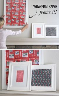 Wrapping paper. It's not just for gifts anymore. Check out these ideas + enter to win $200 to Minted below. My approach to holiday decorating is pretty much lik