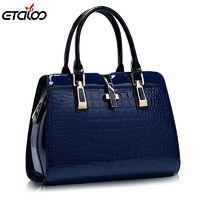 Europe women leather handbags PU handbag leather women bag patent handbag high quality $40.30