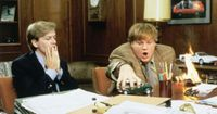"""Tommy Boy: And the medic gets out and says, """"Oh my God"""". New guy's around the corner puking his guts out."""" Funniest Movie ever..."""