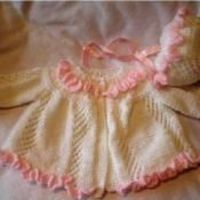RUFFLES AND LACE COAT AND BONNET - via