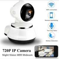 720P HD Wireless Wifi IP Camera Home Security Surveillance Camera 3.6mm Lens Wide Angle Indoor Camera Support Night Vision $18.89