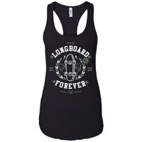 Long Board - Street Style Art - Women's Racerback Tank Top $19.97