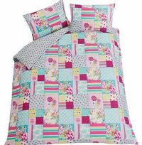 Floral Blocks Multicoloured Bedding Set - Kingsize Bring some chic glamour to your bedroom with this Floral Blocks Duvet Cover Set. This duvet cover set includes a duvet cover and 2 pillowcases. Set includes 1 duvet cover and 2 pillowcases. Machine wa htt...