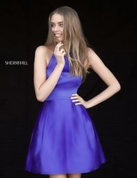 ROYAL SHORT A LINE PARTY DRESS DESIGN BY SHERRI HILL 51273 FOR HOMECOMING
