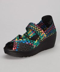 Look at this #zulilyfind! Black & Rainbow Sabeen Mary Jane #zulilyfinds
