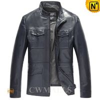 Haute Couture | Mens Designer Leather Jacket CW806050 | CWMALLS.COM