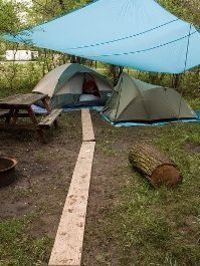 Tips for camping in the rain...I have needed this in the past...and assume I will need this again/RIGHT ON BROTHER! I HAVE 2 TARPS LIKE THAT,I'M ALWAYS LOOKING TO PACK MORE THAN THAT SOMETIMES! THEN I GET CALLED ELLIE MAE CLAMPETT! LOL, LOAD IT UP, I ...