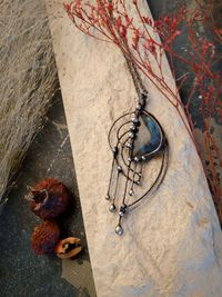 The Pendant- Labradorite harp on which rain played its song. Magic Handmade by OfelWay $65.00