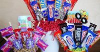 Candy bouquets ~ Cute gift ideas for the kids to take to school birthday parties! (inexpensive too!)