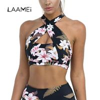 Laamei Sexy Halter Tank Tops Women Push Up Floral Printed Short Cloth Lady Female Tunic Brazilain Camis Party Club Top Clothing $26.01
