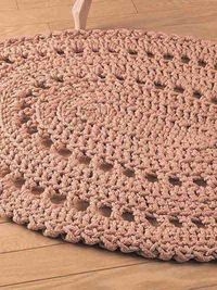 Crochet round and oval rug patterns