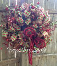Deco Mesh wreath created by Wreaths to Adoor