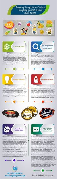 Product Marketing Via Custom Stickers