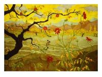 Apple Tree with Red Fruit, Paul Ranso, Art.com