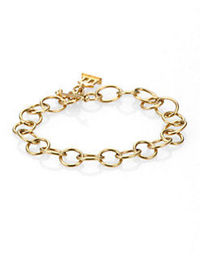 Temple St. Clair 18K Yellow Gold Arno Chain Link Bracelet  From the Classic Gold Collection. A simple, graceful chain of open gold links, with a delicate toggle closure and the designer's signature charm. �€� 18k yellow gold