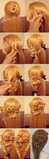 Want a rose style hairstyle?? If so, then here's a tutorial for you ^ ^ You might need someone's help..I think its a perfect hairstyle for a romantic date ^ ^ Source: weheartit