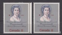 Canada #620ii (SG#759) 8c Multicoloured Queen Elizabeth II 1973 Royal Visit Issue Two Different F Papers Group 2 VF-75 NH $1.19