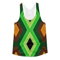 Exclusively from And Above All YOGA --- �€œGeometric Earth�€ Women's Racerback Tank Top for just $29.95 with FREE SHIPPING
