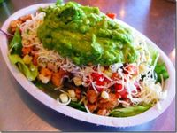 Chipoltes - chicken burrito bowl = LOVE About 12points + and worth every point!