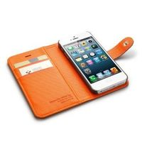 Buy Acedepot Brand Leather Iphone 5 Side Flip Wallet Case - White