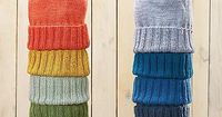 Nothing like stacks of colourful knits! Ravelry: Winter Warmer Hat pattern by Rae Blackledge