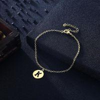 Letter K Bracelet in 18K Gold Plated $16.00