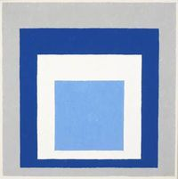 Josef Albers, Homage to the Square: Blue, White, Grey, 1951