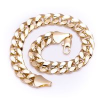 MEN'S LUXURY 14K GOLD PLATED 10MM CHEAP BLING SOLID CURB BRACELET Colour: Gold Material: Brass Technique: This product looks & feels like a real piece of gold jewellery Special Features: This product has been SPECIALLY MANUFACTURED to LOOK 1...