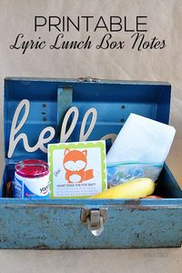 lunch box notes, lunch boxes and popular song lyrics.