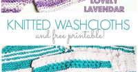 Handmade Knitted Washcloths AND a free printable!