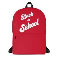 Retro Back to School Bright Red Backpack for Tweens and Teens - School Fashion $64.95