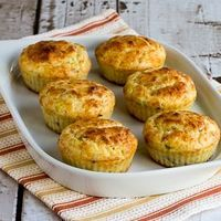 Cottage Cheese and Egg Breakfast Muffins Recipe with Bacon and Green Onions (Low-Carb) [from KalynsKitchen.com]