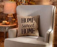 The Home Sweet Home Burlap Pillow is the perfect addition to your family's living room! #Kirklands #farmhouse