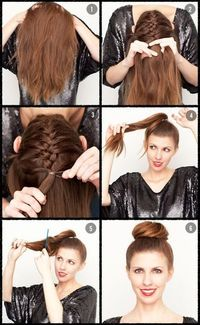 hate the bun but I gotta learn how to braid up the back of my head!