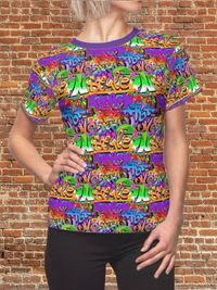 Microfibre Knit Moisture Wicking Strong Elastic Fabric Vibrant Durable Colors Best Quality Pigment Inks Sizes XS - 2XL AOP Cut & Sew Shirt $21.99 https://www.etsy.com/shop/LAFabriKDesigns?ref=ss profile