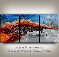 Wall Art Canvas Painting Extra Large Wall Art Red Modern Art Wall Decor Bedroom Wall Original Painting Home & Living Black and Red Paintings $698.00